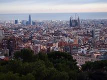 Barcelona pejzaż miejski Obrazy Royalty Free