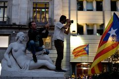 Demonstration Independence catalonia 20/09/2017 Stock Photos