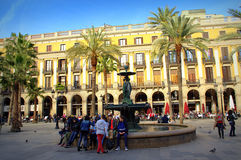 Barcelona piękny kwadrat Obraz Stock