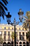 Barcelona-Piazza wirkliches Quadrat Placa Reial Stockfoto