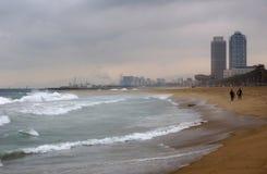 Barcelona plaża Zdjęcia Royalty Free