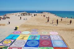 Barcelona plaża, Catalonia fotografia stock