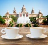 barcelona plac Hiszpanii Obrazy Royalty Free