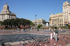 Barcelona - Placa Catalunya Stock Photo