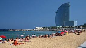 Barcelona: Platja de Sant Sebastià Imagem de Stock Royalty Free