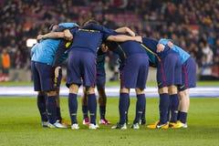 Barcelona players Stock Photography