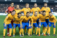 Barcelona players. Before start the match  vs Valencia Royalty Free Stock Photography