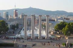 Barcelona plaza Stock Photography