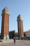 Barcelona plaza Stock Image