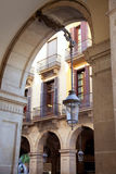 Barcelona Plaza Real Placa Reial square. With archs arcade Royalty Free Stock Photo