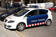 Barcelona Police Royalty Free Stock Photo