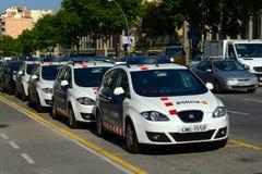 Barcelona police car in downtown Barcelona, Spain Stock Photo