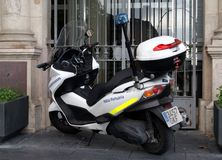Barcelona Police Scooter Royalty Free Stock Images