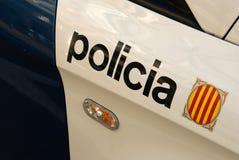 barcelona polis Arkivbild