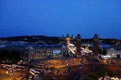 Barcelona por noche Imágenes de archivo libres de regalías