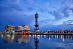 Barcelona port arkivbild