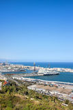 Barcelona Port from Above Stock Photo