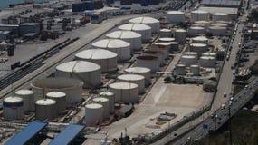 Barcelona port gas storage Stock Image