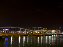 Barcelona port at night Royalty Free Stock Photo