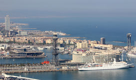 Barcelona and port Port Vell Royalty Free Stock Image