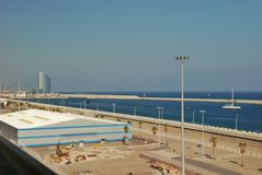 Barcelona port seascape Stock Photo