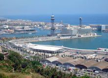Barcelona Port Spain Stock Photography