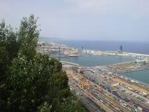 barcelona port spain Royaltyfri Fotografi