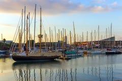 Barcelona Port Vell marina Royalty Free Stock Photo