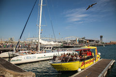 Barcelona Port Vell Stock Photography