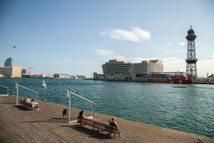 Barcelona Port Vell royalty free stock image