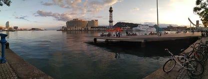 Barcelona port stock image