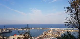 Barcelona& x27; porto di s fotografia stock
