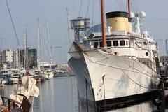 barcelona portu statku biel obrazy royalty free