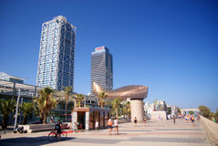 Barcelona promenade Royalty Free Stock Photography