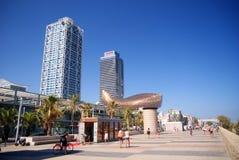 Barcelona promenade royalty free stock photography