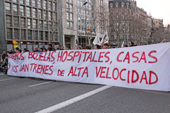 Barcelona-Protest Lizenzfreie Stockfotos