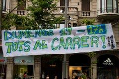 barcelona protester Fotografering för Bildbyråer