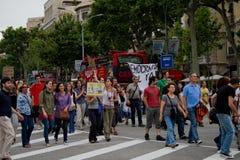 barcelona protester Royaltyfri Fotografi