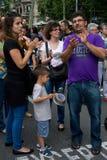 barcelona protester Arkivbild
