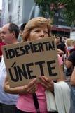 Barcelona protestiert 19J Stockbild