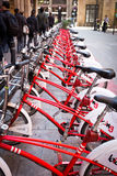 Barcelona public bike sharing Royalty Free Stock Photo