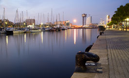 Barcelona - quay in morning Stock Images