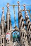 Barcelona que começ pronta para a visita do papa Imagens de Stock