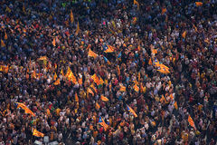 Barcelona rally for independence Stock Image