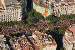 Barcelona rally for independence Royalty Free Stock Photo