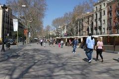 barcelona rambla Стоковые Изображения RF