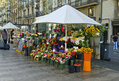 Barcelona Rambla of flowers Royalty Free Stock Images