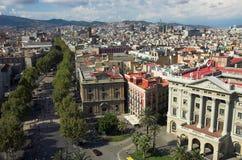 barcelona ramblas Fotografering för Bildbyråer
