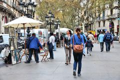 Barcelona - Ramblas Royalty Free Stock Images