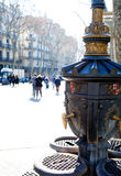 Barcelona Ramblas street life in autumn Stock Photography